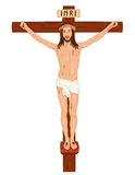 Crucifixon - Jesus Christ on the Cross. Religious Easter card with Jesus Christ on the Cross. Isolated over white background. Vector file saved as EPS AI8, all Stock Images
