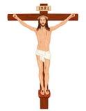 Crucifixon - Jesus Cristo na cruz Imagens de Stock