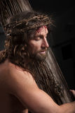 Crucifixtion Portrait stock photos