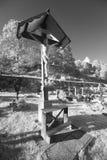 Crucifixus dans Cementary rural Images libres de droits