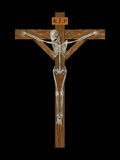 Crucify lo scheletro Immagine Stock