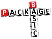 crucigrama básico del paquete 3D Foto de archivo