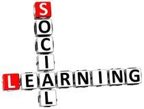 crucigrama de aprendizaje social 3D stock de ilustración
