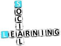 crucigrama de aprendizaje social 3D ilustración del vector