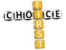 crucigrama de 3D First Choice Fotos de archivo libres de regalías