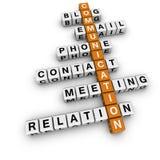 Crucigrama de la comunicación Imagen de archivo libre de regalías
