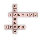 Crucigrama de los pasos de la solución de problemas Fotos de archivo