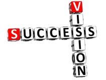 crucigrama de Vision del éxito 3D Fotos de archivo