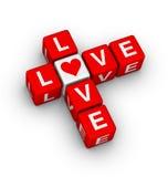 Crucigrama del amor Foto de archivo