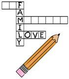 Crucigrama del amor de la familia Imagen de archivo libre de regalías