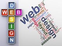 Crucigrama del diseño de Web Foto de archivo libre de regalías