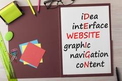 Crucigrama del diseño del sitio web imágenes de archivo libres de regalías