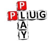 crucigrama del plug and play 3D Foto de archivo libre de regalías