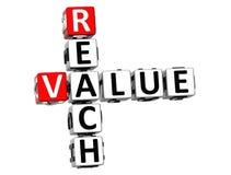 crucigrama del valor del alcance 3D Imagen de archivo libre de regalías