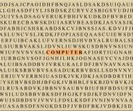 Crucigrama-ordenador imagen de archivo libre de regalías