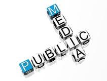 Crucigrama público de los media Imagen de archivo libre de regalías