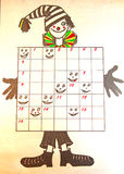 Crucigrama para los niños ilustración del vector