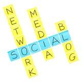 Crucigrama social de los media stock de ilustración