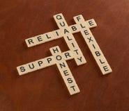 Cruciverba con il supporto di parole, qualità, flessibile, affidabile Fotografie Stock