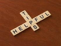 Cruciverba con le punte utili di parole Concetto della guida di viaggio Fotografia Stock