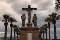 Crucifixion of Jesus statues royalty free stock photography
