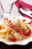 Crudaiola del espagueti Fotografía de archivo