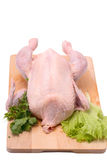 Crude chicken Royalty Free Stock Images