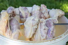 Crude chicken meat Royalty Free Stock Image