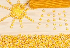 Crude corn Stock Photos