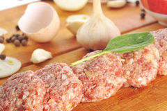 Free Crude Cutlet Royalty Free Stock Photos - 13047078