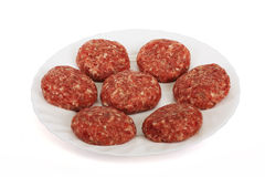 Crude cutlets. Prepared from a mincemeat Stock Photo