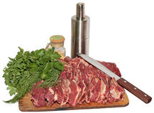 Crude meat Stock Images