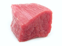 Crude meat. Piece of crude meat on a white background Stock Photos