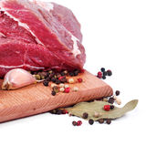 Crude meat and spice Stock Photo
