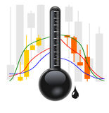 Crude Oil chart Stock Image