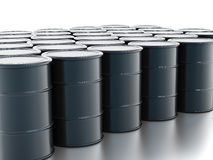Crude oil drums Stock Photo