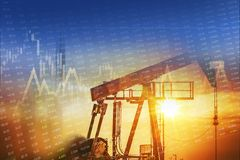 Crude Oil Energy Investment Stock Photos