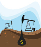 Crude oil extraction Royalty Free Stock Photo