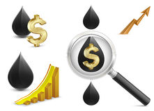 Crude oil price Royalty Free Stock Photography