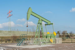 Crude oil pumping and production 6 Royalty Free Stock Photo