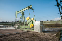 Crude oil pumping and production 1 Royalty Free Stock Photos