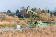 Crude oil pumping and production 7 Royalty Free Stock Image