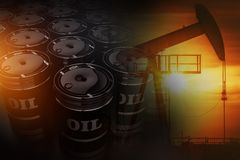 Crude Oil Reserves Concept Royalty Free Stock Image