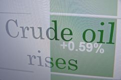 Crude oil rises Royalty Free Stock Images