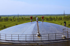 Crude Oil Tank Royalty Free Stock Photography