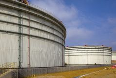 Crude Oil Tank Stock Images