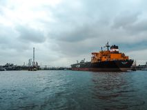 Crude oil tanker Torm Marina calling on the port of Antwerp royalty free stock photography