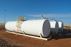 Crude oil tanks Royalty Free Stock Image