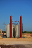 Crude Oil Tanks Stock Image
