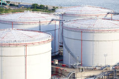 Crude oil tanks Stock Images
